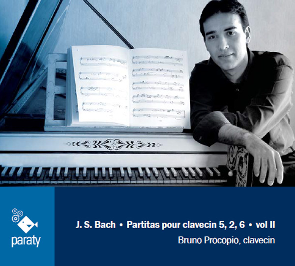 Partitas for harpsichord 5, 2, 6, J.S.Bach